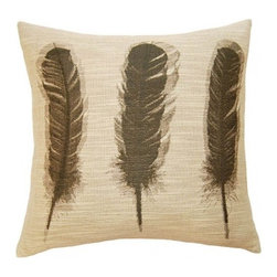 Squarefeathers - Dakota, Feathers Pillow - The Dakota Collection is excellent for any background landscape. It would be perfect for any sun room! It has a soft and pump feataher/down insert inclosed with a zipper. Like all of our products, this pillow is handmade, made to order exclusively in our studio right here in the USA.