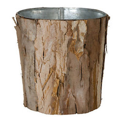 Wrapped Bark Pot - I could see this wastebasket adding some texture to a tiled powder room or a home office. The bark exterior makes its function (storing the trash) feel more incognito. I love its rustic style.