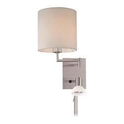 George Kovacs - George Kovacs P1050-084 Swing Arm Wall Sconce + Adjustable Halogen Reading Light - Features Adjustable 35 Watt GU10 Halogen Reading Light