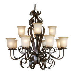 Yosemite Home Decor - 12 Lights Chandelier in Bronze Patina - Feature: