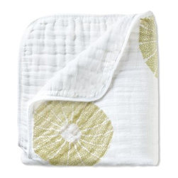 """Aden and Anais - Aden and Anais Organic Dream Blanket in Oasis - Imagine the coziness your little one will experience wrapped in this soft, organic dream blanket. Includes one 47"""" x47"""" (120cm x 120cm) pre-washed organic cotton muslin dream blanket"""