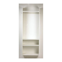 Easy Track - Easy Track Closet Hanging Tower Kit, White (RV1472.PK) - Easy Track Closet RV1472.PK Hanging Tower Kit, White