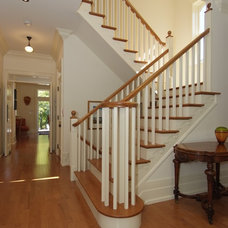 Traditional Staircase by Lindsay Construction Services