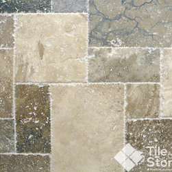 Tuscany Imperium Travertine, Versailles Pattern - This is a travertine piece from Turkey. It is multicolor. It has color varieties of beige, white, ivory, and cream. It exudes a luxurious feel to any area.