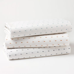 Coyuchi - Coyuchi Double Diamond Flat Sheet - This super soft Coyuchi flat sheet feels modern and fresh with subtle graphic style. Atop a crisp white background, tiny tonal diamonds create a textured, geometric statement. 100% organic cotton percale, 220 thread count; Available in three color ways; Machine washable