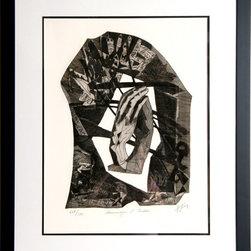 Henry-Georges Adam, Homage a Rodin, Carborundum Etching - Artist:  Henry-Georges Adam, French (1904 - 1967)
