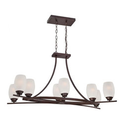 Minka-Lavery - Minka-Lavery City Club 8-Light Island-Light - This 8-Light Island Light has a Bronze finish and is part of the City Club Collection.