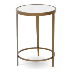 """Charleston Forge - Roundabout Drink Table, Charcoal, Glass - This Roundabout Drink Table is your solution to small spaces. Hand crafted iron base has a myraid of finishes for you to choose from. Use as an accent of drink table. Table measures 17"""" dia. x 25"""" H."""