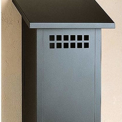 Arroyo Craftsman Glasgow Satin Black Mail Box, Vertical - This vertical wall-mounted mailbox is inspired by Craftsman architecture.