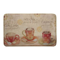 Bacova Guild LTD - Bacova Standsoft Coffee Set Rectangle Shaped Anti-Fatigue Indoor Mat - Brown/Bei - Shop for Office Safety and Security from Hayneedle.com! About Bacova The Bacova Guild has become one of the largest producers of printed accent rugs floor mats and bathroom ensembles offering more than 30 distinct product lines with around 3 000 unique items. Located in Covington Virginia Bacova is a wholly owned subsidiary of Ronile Incorporated. They continue to serve a diverse customer base by setting the standard with fresh and innovative fashions exhibited in their annual offerings of hundreds of new designs. With their reach stretching well beyond the borders of the United States Bacova has a worldly outlook to meet the needs of an ever-changing marketplace. In spite of their rapid growth over the last decade Bacova remains committed to a standard of style and quality that can t be matched.