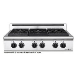"""American Range - ARSCT-364GD-L Legend Series 35.88"""" Wide Pro-Style Liquid Propane Cooktop  4 Seal - Legend Series 3588 Wide Pro-Style X Cooktop 4 Sealed Burners 11 Griddle Fail-Safe System Analog Controls Electronic Ignition Shown with optional 4 riser"""