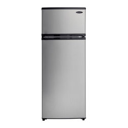 Danby - Danby 7.4 Cubic Foot Black/Platinum Two Door Apartment Size Refrigerator - FEATURES