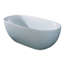 "AKDY - AKDY AK-ZF277 67"" Europe Style White Acrylic Free Standing Bathtub Soaking Spa - AKDY free standing acrylic bathtubs come in many styles, shapes, and designs. The acrylic material used for tubs is very durable, light weight, and can be molded into a variety of shapes and styles which explain the large selection available in this product category. Acrylic free standing tubs are a cost efficient way to give your bathroom a unique beautiful touch. A bathtub is no longer just a piece of cast iron metal thrown into a bathroom by a builder."