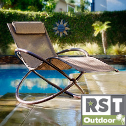 Red Star Traders - RST Orbital Zero Gravity Patio Lounger Rocking Chair - Lean back and sink into relaxation with this orbital lounger, featuring an ergonomic design for maximum comfort. With a unique back support and relaxing zero-gravity design, you'll find the time slip away in your outdoor space.