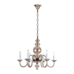 Crystorama - Crystorama 9846-CH-CG Harper Chandelier - 28.75W in. - Polished Chrome Multicolo - Shop for Wall Mounted Lighting and Sconces from Hayneedle.com! Don't be surprised if everyone who enters your home instantly starts staring at the Crystorama 9846-CH-CG Harper Chandelier - 28.75W in. - Polished Chrome. It's easy to see why this chandelier garners so many gazes - after all it combines its polished chrome accents with the cognac-toned glass body to create a look that's part-transitional part-traditional and all style. You'll need six 60-watt candelabra bulbs for this chandelier and it comes complete with 120 inches of supply wire and 72 inches of chain for easy installation.About Crystorama Inc.With more than 40 years of experience Brooklyn-based Crystorama Lighting has a worldwide reputation for premium-quality products and professional service. This family-owned company was founded in 1958 by Abraham Kleinberg. Originally dedicated to importing Bohemian chandeliers Crystorama now sources out the best quality crystal worldwide. These superior crystal brass and wrought iron chandeliers carry on a rich tradition of craftsmanship and authenticity.