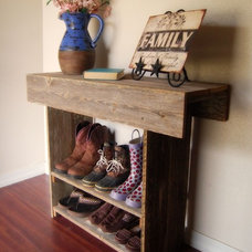 Console Table. Wood Entry Way or Wall Table 30 x 11 x 30 Wall Table Runner. Wood