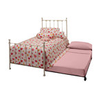 Hillsdale Furniture - Hillsdale Molly Panel Bed with Trundle in White - Adorable old fashioned kids daybed is updated with festive and trendy colors: blue, green, red and yellow. A new spin on an old standard.