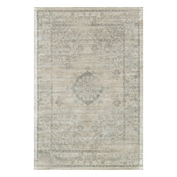 """Loloi Rugs - Loloi Rugs Nyla Collection - Beige/Blue, 2'-4"""" x 7'-9"""" - The power-loomed Nyla Collection from Egypt offers a range of subtle, sophisticated looks that enhance an interior space at a value-driven price. Made of 100% viscose, Nyla features soft color combinations with touches of mocha, plum, and mist throughout the selection."""