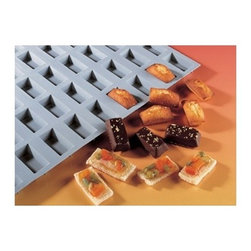 "de Buyer - de Buyer Elastomoule Silicone Financier Mold - 15 portions - Silicone foam mold, non-stick. Perfect heat transmission, thereby gaining time and allowing juices to caramelize. Carefully designed to guarantee flawless shape. Can be used for baking and freezing -70"" to +580"" F (300"" C). Loaf shape with 15 cavities. Dimensions: Each cavity has 0.44"" H x 1.96"" L x 1"" W. Dishwasher safe.. Made in France."