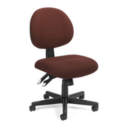 OFM - OFM 24-Hour Computer Task Chair in Burgundy - OFM - Office Chairs - 241201 - Get the perfect fit with OFM's 241 Series 24-Hour/Multi-Shift Task Chair. Designed for 24-hour use this stylish chair includes 7 different adjustable Features: seat height seat angle back height back angle tilt tension tilt lock and synchro mech. Choose from a variety of attractive stain-resistant fabrics or from the Elements In-Stock Textile Upgrade Program. Meets or exceeds ANSI/BIFMA standards. Weight capacity up to 250 lbs.