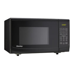 Danby - 0.7 Cu. Ft., 700 Watts Microwave - Black - Danby's counter top microwaves are not only practical and economical, they're stylish too! Danby microwaves are well suited for the dorm room, office, cottage or kitchen.