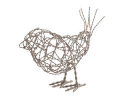 Lazy Susan - Nickel Scribble Bird, Large - -Handcrafted