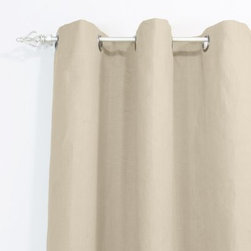 Chooty and Co Jefferson Driftwood Grommet Curtain Panel - No matter what your preferred style is, the Chooty and Co Jefferson Driftwood Grommet Curtain Panel gives a luxurious feeling to any room in your home. The elegant driftwood color provides a neutral backdrop for your furniture and accessories. The linen and viscose construction is easy to care for and adds the perfect touch of beauty.About Chooty & Co.A lifelong dream of running a textile manufacturing business came to life in 2009 for Connie Garrett of Chooty & Co. This achievement was kicked off in September of '09 with the purchase of Blanket Barons, well known for their imported soft as mink baby blankets and equally alluring adult coverlets. Chooty's busy manufacturing facility, located in Council Bluffs, Iowa, utilizes a talented team to offer the blankets in many new fashion-forward patterns and solids. They've also added hundreds of Made in the USA textile products, including accent pillows, table linens, shower curtains, duvet sets, window curtains, and pet beds. Chooty & Co. operates on one simple principle: What is best for our customer is also best for our company.