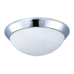 Mode LED-Flush Mount - Clean, modern design with state of the art technology create the ultimate in ceiling illumination, featuring Polished Chrome metal bases and Satin White twist-lock glass diffusers. Long life 3000K LED lamps provide ample light at an affordable cost. An emergency back-up model makes this collection suitable for multi-family applications.
