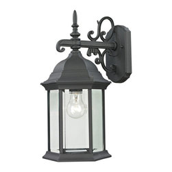Cornerstone - Cornerstone Spring Lake 8601EW/65 Coach Lantern Medium in Matte Texetured Black - 8601EW/65 Coach Lantern Medium in Matte Texetured Black belongs to Spring Lake Collection by Cornerstone Outdoor Wall Sconce (1)