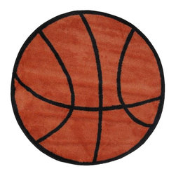 Fun Rugs - Basketball Kids Rug - Your child's room is a natural extension of them. Add these innovative designs from LA Rug to spruce up any child's decor.
