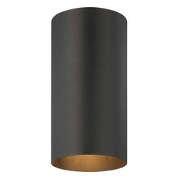 Volume Lighting - Volume Lighting V9616 1 Light Flush Mount Outdoor Ceiling Fixture with Metal Cyl - One Light Flush Mount Outdoor Ceiling Fixture with Metal Cylinder ShadeGive your outdoor d�cor a fresh new look with this splendid 1 light flush mount outdoor ceiling fixture featuring a superior metal shade.Features: