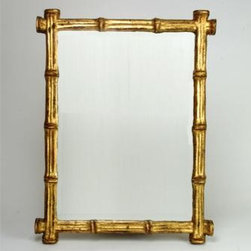 Gilded Faux Bamboo Mirror - Everyone loves bamboo! This glamorous gilded piece would be a stylish addition to any room in the house.