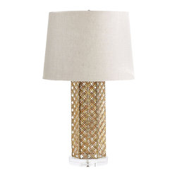 Cyan Design - Woven Gold Table Lamp - Woven gold table lamp in antique gold.
