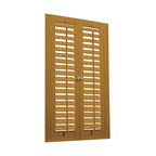 """Bass Wood and Faux Wood 2 1/4"""" Movable Louver Shutter Kits - Shutter Kits coming soon to Houzz"""