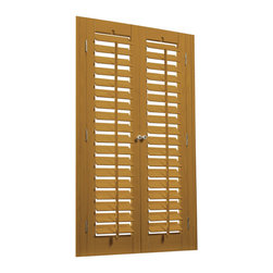 "Bass Wood and Faux Wood 2 1/4"" Movable Louver Shutter Kits - Shutter Kits coming soon to Houzz"