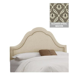 Home Decorators Collection - Custom Jameson Upholstered Headboard - With a beautifully shaped design that features inset nail button detailing, our Custom Jameson Upholstered Headboard will add the perfect touch of personalization and style to your bedroom. Choose from a wide range of beautiful, top-quality fabric options to create a piece that you are sure to love. Includes hardware to attach to most standard bed frames. Assembled to order in the USA and delivered in 4-6 weeks. Spot clean only.