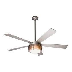 """Modern Fan Company - Modern Fan Company Pharos Matte Nickel 42"""" Ceiling Fan + Wall Control - Features:"""