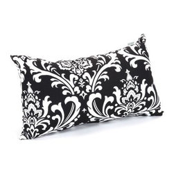 Majestic Home Goods 20 x 12 x 5 Small Pillow - The Majestic Home Goods 20 x 12 x 5 Small Pillow is a little pillow that packs a big punch. With its bold brocade design, it's the perfect accent piece to boost the cool-factor in your living room or bedroom. You'll love how comfy and supportive it is, due to its soft Super Loft recycled poly fill insert. Choose from an array of colors to get a look that is just right for your space. It measures 20L x 5W x 12H inches.