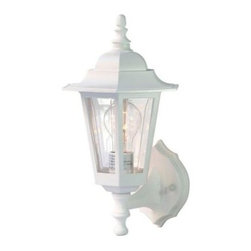 Acclaim Lighting - Outdoor Lighting. Tidewater Collection Wall-Mount 1-Light Outdoor Textured White - Shop for Lighting & Fans at The Home Depot. The Tidewater collection 1-light wall lantern is made of a non-metallic copolymer polyester material. This material will not rust or corrode and resists the harmful effects of UV rays. The acrylic glass is beveled and impact resistant.