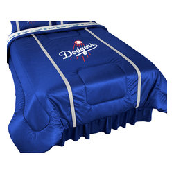 Sports Coverage - MLB Los Angeles Dodgers Comforter Baseball Bedding, Twin - Features: