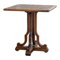 Uttermost - Uttermost Lucy Squared End Table - Lucy Squared End Table by Uttermost Hand Carved, Plantation-grown Mango Wood In Distressed Honey Finish.