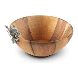 Vagabond House - Small Pewter Crab & Acacia Wood Bowl - Small Pewter Crab & Acacia Wood Bowl
