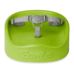 Bumbo - Bumbo Booster Seat in Lime - This softly made, contoured booster seat enables children to sit in an adult chair at the table. Ergonomically designed for optimum comfort and equipped with a 3-point harness and attachment straps that help keep your child safely in place.