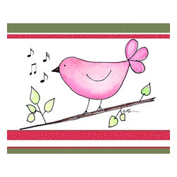 Oh How Cute Kids by Serena Bowman - Song Bird - Pink , Ready To Hang Canvas Kid's Wall Decor, 8 X 10 - Each kid is unique in his/her own way, so why shouldn't their wall decor be as well! With our extensive selection of canvas wall art for kids, from princesses to spaceships, from cowboys to traveling girls, we'll help you find that perfect piece for your special one.  Or you can fill the entire room with our imaginative art; every canvas is part of a coordinated series, an easy way to provide a complete and unified look for any room.