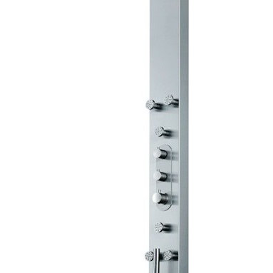 "Vigo VG08001 Nolita Stainless Steel Shower Panel and 6 Body Spray Jets - Dimensions: 67.75""L x 12""W x 3""H"