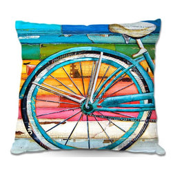 DiaNoche Designs - Pillow Linen - Danny Phillips Life Cycles - DiaNoche Designs works with artists from around the world to create astouding and unique home decor products.  Add a little texture and style to your decor with our Woven Linen throw pillows.  The material has a smooth boxy weave.  Each pillow is machine loomed, then printed and sewn ALL IN THE USA!!!  100% smooth poly with cushy supportive pillow insert with a hidden zip closure. Dye Sublimation printing adheres the ink to the material for long life and durability. Double Sided Print, machine wash upon arrival for maximum softness. Product may vary slightly from image.