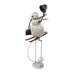 Authentic Models - Downhill Snowman Sky Hook - Fast and furious, a downhill race... our three dimensional snowman has never been more jolly! An instant seasonal classing from AM.