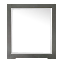 Avanity - Kelly 28-inch Mirror - This mirror is the perfect choice for those who don't always see things in black or white. Made for your modern bath, its clean, simple lines are finished in a neutral, gray-blue hue that blends beautifully with its surroundings.