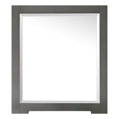 Avanity - Kelly 28 in. Mirror - This mirror is the perfect choice for those who don't always see things in black or white. Made for your modern bath, its clean, simple lines are finished in a neutral, gray-blue hue that blends beautifully with its surroundings.
