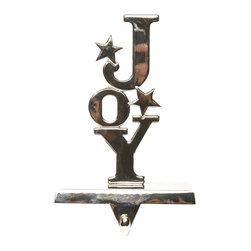 Balsam Hill Silver Joy Christmas Stocking Holder - CELEBRATE THE SPIRIT OF THE SEASON